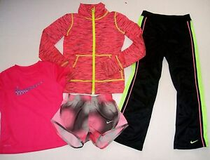 Nike Zella Girl Lot XS 5 6 6X Athletic Sports Jacket Pants T Shirt Tempo Shorts