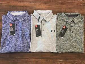 Under Armour Men's UA Elevated Heather Polo 1242757 Gray Green Purple Blue