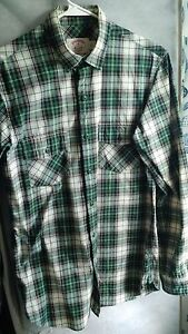Brooks Brothers Red Fleece Vintage Green Plaid Sport Shirt Size Small