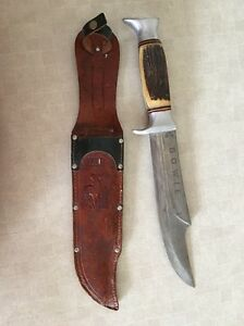 Vintage Edge Brand 469 African Hunter Style Bowie Knife with Sheath