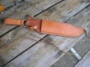 Vintage Leather Knife Sheath Western W49 Bowie Vietnam Fighting Leg Thong Parts