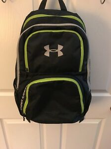 Black And Green Under Armour Backpack Bag