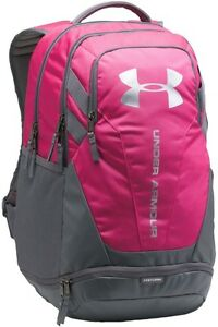 Brand New Under Armour Hustle Backpack 3.0 Tropic PinkGraphiteSilver