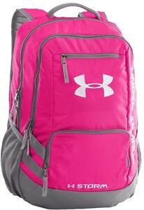 Brand New Under Armour Hustle Backpack II Tropic PinkGraphiteWhite