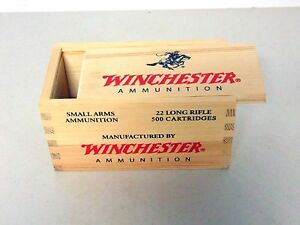 1st Variation EMPTY Cabela's Winchester Wood 22 Brick Box FREE S