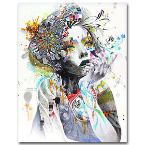 Famous Art Trippy Psychedelic Abstract Girl Silk Poster Prints 13x17 24x30 inch $10.79
