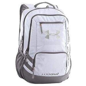 Under Armour 1263964 UA Storm Hustle II Backpack Water-Resistant BAG UA White