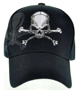 NEW PIRATE SKULL SHADOW N1 CAP HAT BLACK