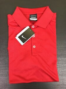 NIKE Golf Mens Dri-Fit Red Polo Sport Shirt Moisture Wicking Size Small NEW $50