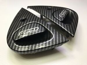 FEED RACING CARBON LOOK OUTER FRONT DOOR HANDLE RIGHT & LEFT FOR 93-02 MAZDA RX7