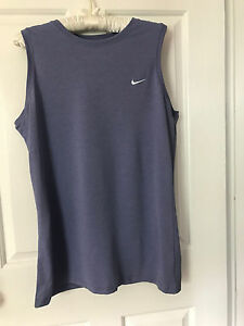 NIKE FIT DRY Women's Tank Top Sz L SHIRT Athletic Sleeveless Fitness GYM Top