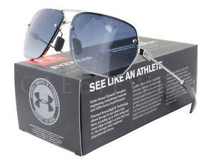 NEW Under Armour Hi Roll Shiny Silver  Blue Gradient 8600084-920586 Sunglasses