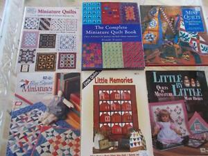 Lot 6 MINIATURE QUILTING Books Complete MINI TRADITIONAL Bias Square LITTLE Memo $24.00