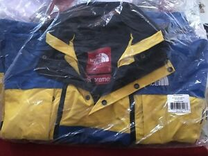 Supreme X The North Face Steep Tech Jacket ROYAL Yellow LARGE DEADSTOCK