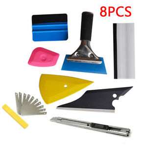 FREE SHIP 8PCS Squeegee Car Window Tinting Film Install Wrapping Applicator Tool