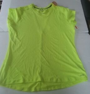 Champion Women's Neon Green Short Sleeve Duo Dry Ventilated Shirt Size XLarge