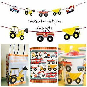 Construction party transport theme party construction birthday supplies digge