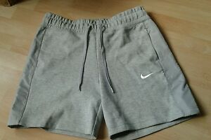 Womens Fleece NIKE grey sports running gym shorts pocket size small sample