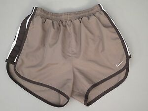 WOMENS NIKE DRI FIT TEMPO RUNNING SHORTS SIZE XS BROWN WITH HINT OF GRAY