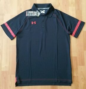 New Hot Mens Under Armour Polo Shirt Sz Small Protect This House Heat Gear Loose