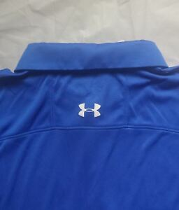 NWT Men's Royal Blue Heat Gear UNDER ARMOUR Polo Golf Shirt-Size XXL Loose Fit