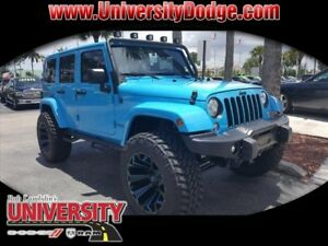 2017 Jeep Wrangler Winter Edition 2017 Jeep Wrangler Unlimited Winter Edition 895 Miles Blue 4x4 Sahara 4dr SUV  A