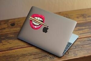 35-20 Sexy Lips Bullet Nightmare Vinyl Decal Window Mac laptop