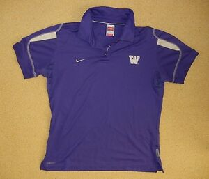Nike WASHINGTON HUSKIES UW Football POLO SHIRT College Golf Size Women LARGE
