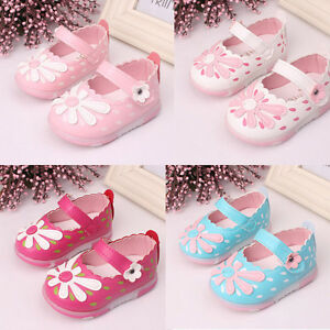Baby Shoes Kid Toddler Sunflower Girls Autumn Lighted Soft-Soled Princess Shoes