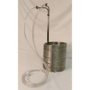 NY Brew Supply 75#x27; Deluxe Stainless Steel Wort Chiller with Vinyl Tubing Kit