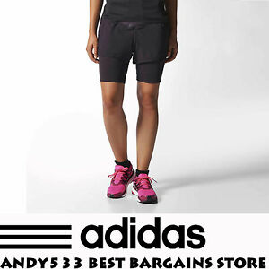 Adidas Adistar Women Run Woven Shorts 2in1 Artisan ClimaHeat Reflective Pocket S