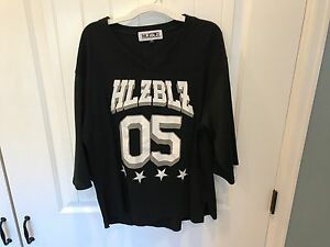 Women's HLZBLZ BAE 05 Football Jersey Shirt Black Size M