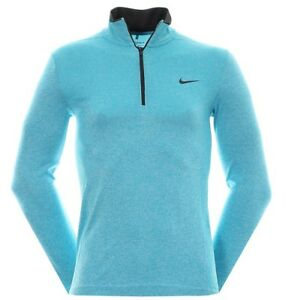 Nike Golf Dri-fit Knit Half Zip Men's Shirt Omega Blue - XXL - 726580 418