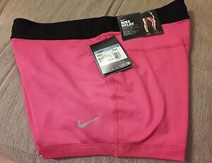BNWT Women's NIKE  Pink POCKET compression running sport training gym SHORTS  m