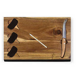 Picnic Time 'Delio' Cutting Board and Cheese Tools Serving Set