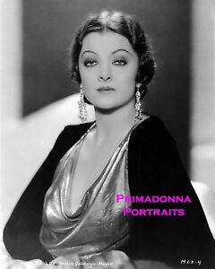 MYRNA LOY 8X10 Lab Photo B&W 1920s PORTRAIT Elegant Vamp Movie Still Glamour
