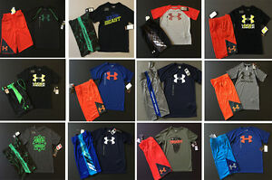 Under Armour Youth Boys 2 Piece shirt and shorts Outfits Kids Size XL YXL NWT