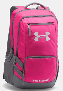 Under Armour Hustle 2 (II) Backpack - 1263964-654 - TROPIC PINK  GRAPHITE
