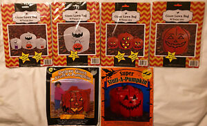 Halloween themed pumpkin lawn and leaf bags you pick assorted new in package