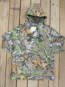 Under Armour Youth Size Cold Gear Hoodie Sweatshirt Mossy Oak Obsession