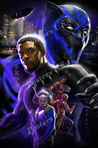 Posters USA Marvel Black Panther Movie Poster Glossy Finish FIL606