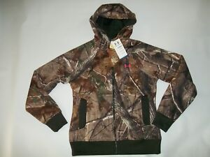 UNDER ARMOUR Realtree Camo UA Hunting Full Zip Hoodie JACKET Womens Size XXL NEW