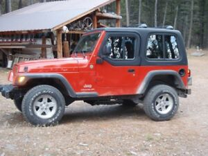 1-Piece Removable Hardtop for Jeep Wrangler TJ with Half-Door Insert (1997-2006)