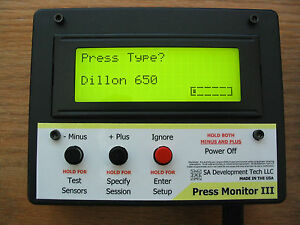 Press Monitor III for Dillon 550 650 Hornady Counter Statistics (Black Auto)