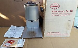 Lee lead melting casting production pot IV with box and papers