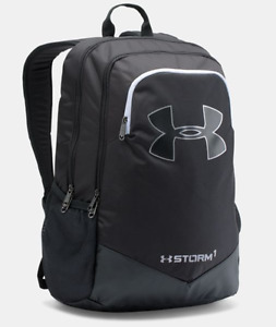 1277422-001 UNISEX UA STORM SCRIMMAGE BACKPACK UNDER ARMOUR BLACK  WHITE