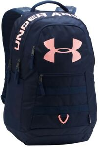 Brand New Under Armour Big Logo Backpack 5.0 Midnight NavyCape Coral