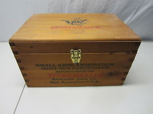 Winchester Arms Wooden Ammo Box Crate with Insert  18