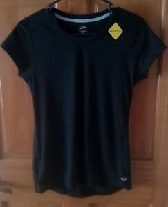 Champion Women's Black Short Sleeve Duo Dry Ventilated Shirt Size Extra Small