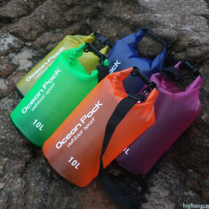 PVC Waterproof Dry Bag Sack 5L-20L for Canoe Floating Boating Kayaking Camping H